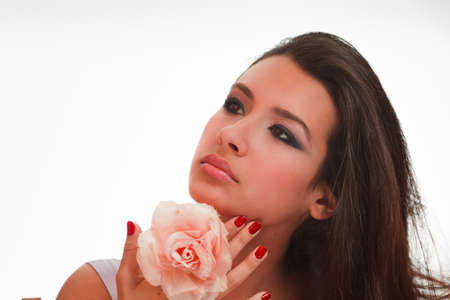 cuban women: Beautiful Multicultural Young Woman in a Studio Glamour Pose