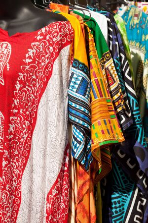traditional culture: Colorful Island or African Tribal Dresses