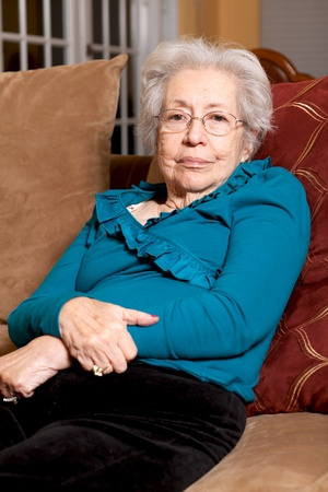 octogenarian: Elderly 80 year old Woman in a home setting
