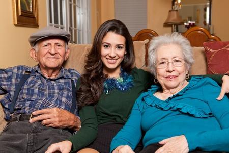 손녀와 조부모 가정 생활 스톡 콘텐츠 - 8754065