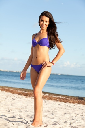 Beautiful Young Woman at the Beach photo
