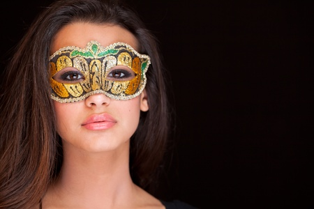 masked woman: Fashion Model Stock Photo