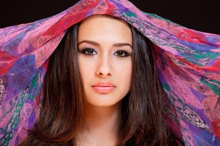 Beautiful Young Woman wearing a Veil photo