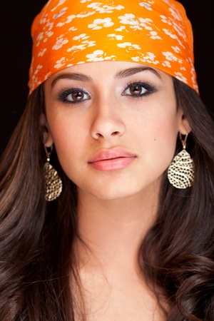 Beautiful Young Woman wearing a Bandana Stock Photo - 9786771