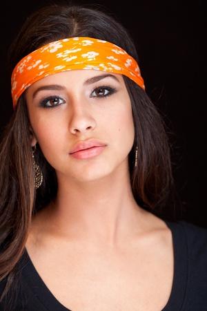 cuban women: Beautiful Young Woman wearing a Bandana