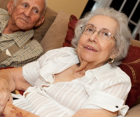 Elderly Woman with Alzheimer photo