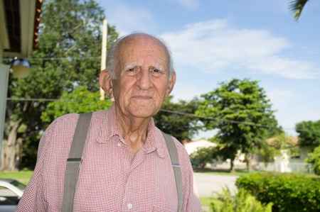 octogenarian: Elderly 80 plus year old man outdoors