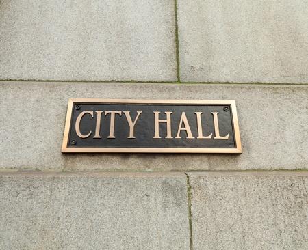 Stadhuis teken Stockfoto - 10514330