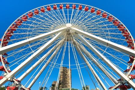 Navy Pier Ferris Wheel Chicago Stock fotó