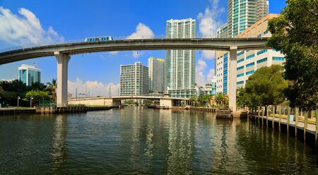 Downtown Miami River Cityscape photo