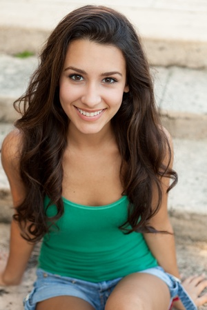 아름다운 젊은 여자 야외 생활 스톡 콘텐츠