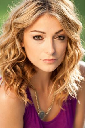 Beautiful Young Woman Outdoors Stock Photo - 10926059