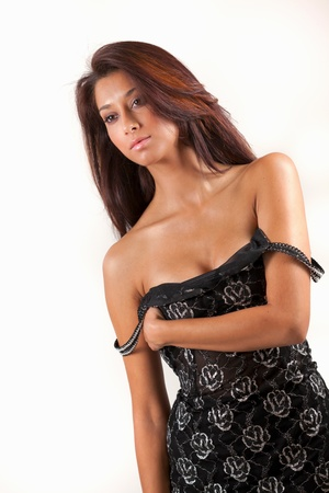 southern indian: Beautiful and sexy young multicultural woman Stock Photo