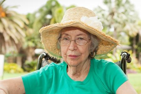octogenarian: Elderly 80 year old woman with Alzheimer