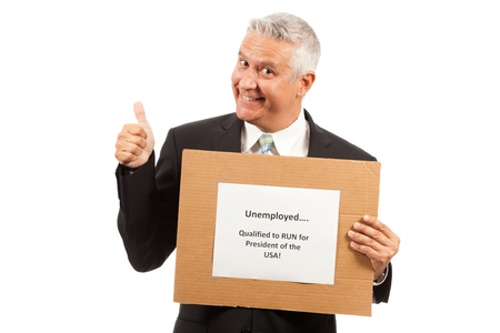 mailroom: Unemployed Middle Age Business Man