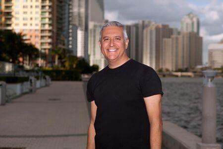 salt pepper: Handsome middle man outdoors