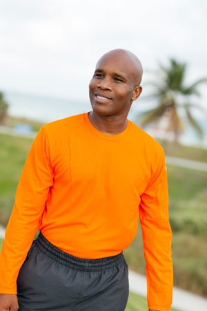 Handsome young man enjoying Miami South Beach