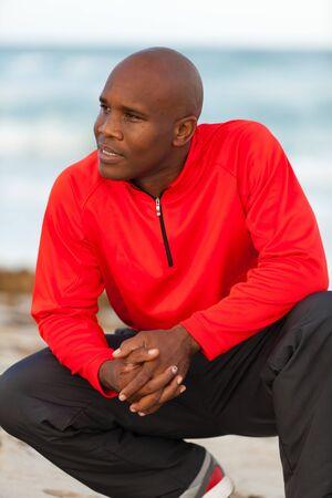 miami south beach: Handsome young man enjoying Miami South Beach