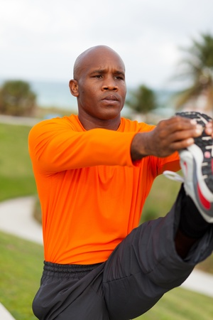 physical activity: Handsome Personal Trainer in Miami Beach