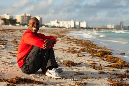 Handsome young man enjoying Miami South Beach photo