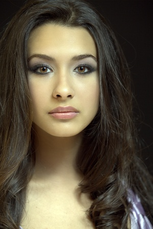 Mooie jonge vrouw portret