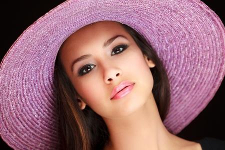 belle brune: Belle jeune femme Banque d'images