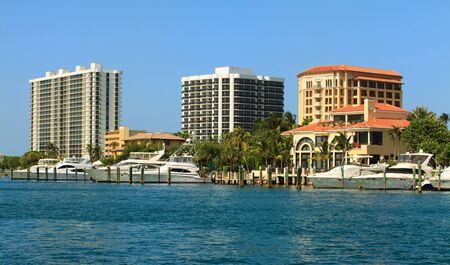 Fort Lauderdale Intracoastal Waterway with yachts and condominiums