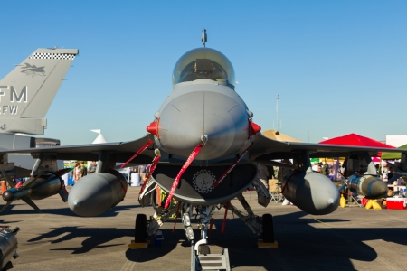 f 16: Close up view of the American F-16 Fighting Falcon jet  Editorial