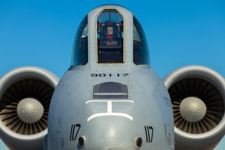 Close up view of the American A-10 Thunderbolt Warthog jet  Editoriali