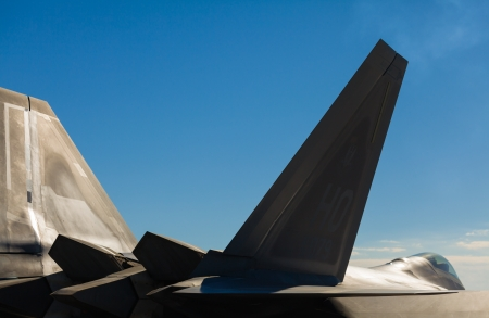 aircraft bomber: Close up view of the American F-22 Raptor stealth fighter jet  Editorial