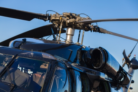 Close up view of a Sikorsky UH-60 Black Hawk helicopter