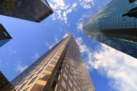 Tall skyscrapers in downtown Houston, Texas  photo