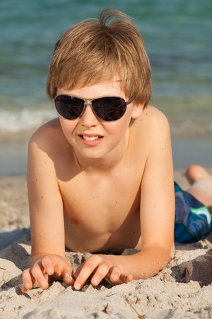 Young teenager enjoying the beach in Miami  photo