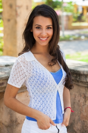 Beautiful multicultural young woman outdoor portrait Stock Photo - 16986599