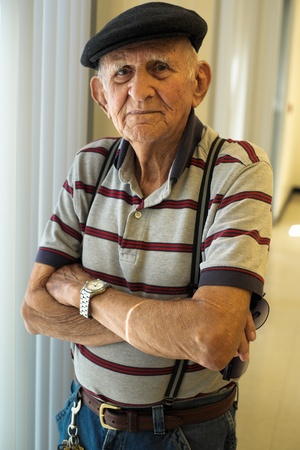 old people: Elderly 80 plus year old man portrait.