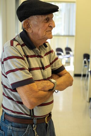 octogenarian: Elderly 80 plus year old man portrait.