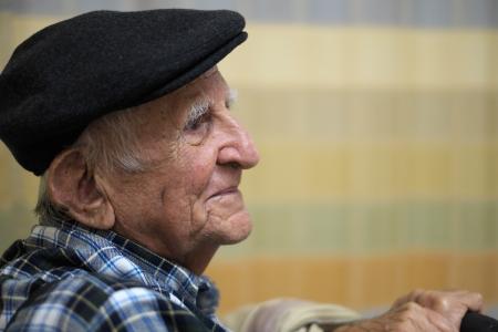 Elderly 80 plus year old man portrait  photo