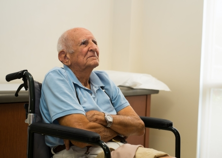 octogenarian: old man in a doctor office setting  Stock Photo