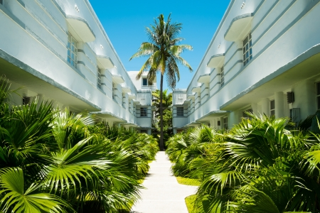 Beautiful art deco architecture in Miami Beach. Editorial