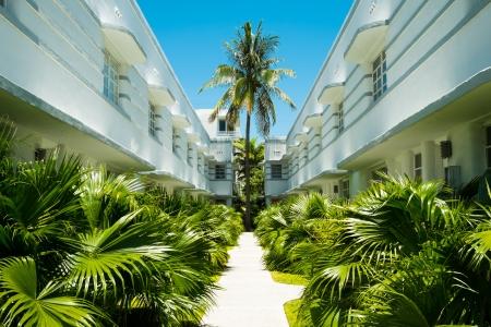 apartment: Beautiful art deco architecture in Miami Beach. Editorial