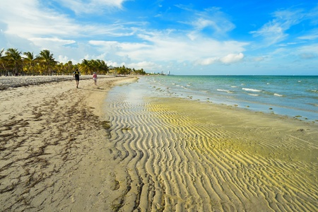 Beautiful Crandon Park Beach located in Key Biscayne in Miami  photo