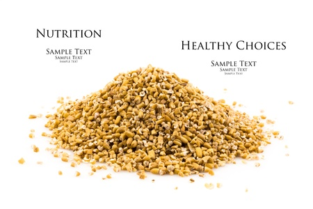 earthly: Close up view of a fresh pile of uncooked steel cut oats  Stock Photo