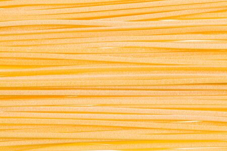 linguine pasta: Close up view of freshly made linguine pasta  Stock Photo