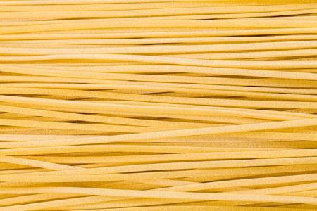 durum wheat semolina: Close up view of freshly made linguine pasta  Stock Photo