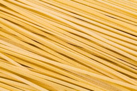 earthly: Close up view of freshly made linguine pasta  Stock Photo