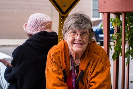 octogenarian: Pretty senior woman outdoor portrait.