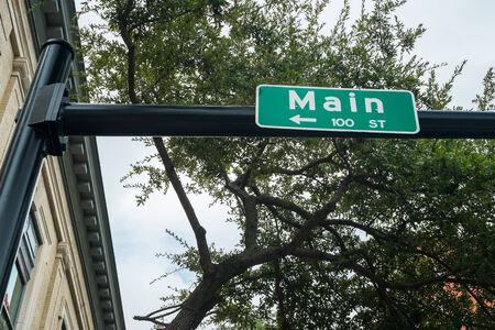 Main street in downtown Jacksonville, Florida.