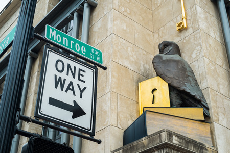 monroe: Monroe street in downtown Jacksonville, Florida.
