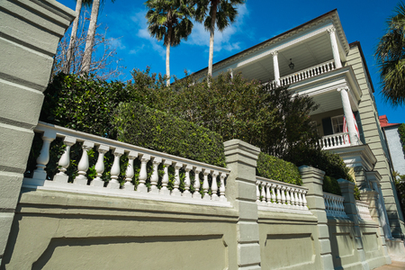 town homes: Historic southern style town homes in Charleston, South Carolina. Editorial