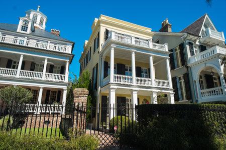 Historic southern style homes in Charleston, South Carolina. Stock Photo - 23189847